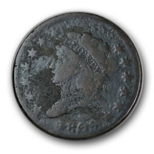 1809 1C CLASSIC HEAD CENT GOOD TO GOOD CORRODED R1118
