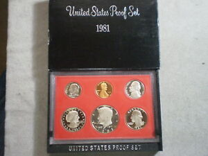 1981 UNITED STATES PROOF SET IN ORIGINAL BOX/ GREAT STOCKING STUFFER