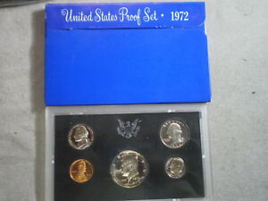 1972 UNITED STATES PROOF SET IN ORIGINAL BOX/ GREAT STOCKING STUFFER