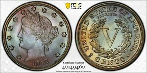 Click now to see the BUY IT NOW Price! 1912 S LIBERTY NICKEL PCGS GRADED MS65. WITH BEAUTIFUL TONING OF EVERY COLOR.
