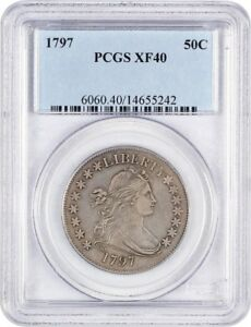 Click now to see the BUY IT NOW Price! 1797 50C PCGS XF40    SMALL EAGLE HALF DOLLAR   BUST HALF DOLLAR