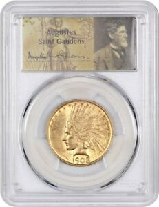 Click now to see the BUY IT NOW Price! 1908 $10 PCGS MS62  NO MOTTO  SHARPLY STRUCK   INDIAN EAGLE   GOLD COIN