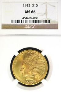 Click now to see the BUY IT NOW Price! 1913 INDIAN HEAD $10 GOLD NGC MS66  HIGH GRADE [008]