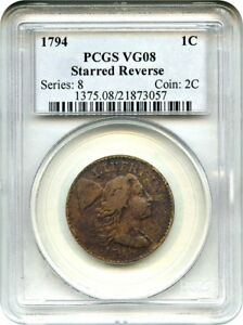 Click now to see the BUY IT NOW Price! 1794 1C PCGS VG 8  STARRED REVERSE   LARGE CENT   LARGE CENT
