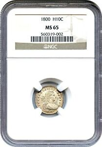 Click now to see the BUY IT NOW Price! 1800 H10C NGC MS65   LOVELY EARLY GEM   EARLY HALF DIME   LOVELY EARLY GEM