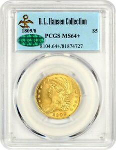 Click now to see the BUY IT NOW Price! 1809/8 $5 PCGS/CAC MS64    GREAT EARLY HALF EAGLE   EARLY HALF EAGLE   GOLD COIN