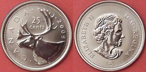 SPECIMEN 2009 CANADA 25 CENTS FROM MINT'S SET