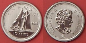 SPECIMEN 2015 CANADA 10 CENTS FROM MINT'S SET