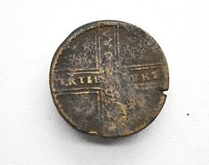 RUSSIAN IMPERIAL COPPER COIN 5 KOPEK. ANNA TIME 1730