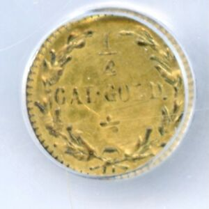 1/2 OVER 1/4 ERROR / 1880 RD IND G25C CALIFORNIA GOLD / NGC MS63 LR7