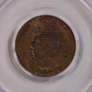 Click now to see the BUY IT NOW Price! PCGS MS62BN 1792 BARBADOS 1/2PENNY ORIGIN STRUCK UNC