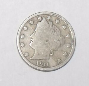 1911   LIBERTY V NICKEL  GOOD CONDITION