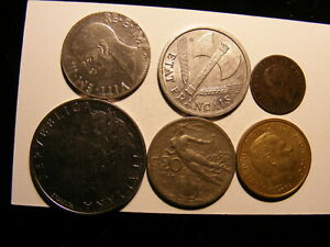 OLD COINS FROM ITALY   5 DIFFERENT