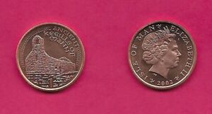 ISLE OF MAN BRITISH DEPENDENCY 1 PENNY 2002 AA UNC ANCIENT KEEILLS OF MANN RUINS