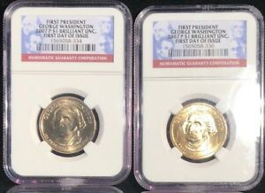$1 GEORGE WASHINGTON 2007 P NGC BRILLIANT UNCIRCULATED FIRST PRESIDENT DAY ISSUE