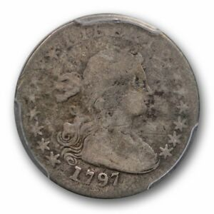 1797 DRAPED BUST HALF DIME PCGS G 4 GOOD US TYPE COIN 15 STARS H10C