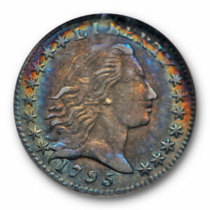 Click now to see the BUY IT NOW Price! 1795 FLOWING HAIR HALF DIME H10C NGC AU 50 ABOUT UNCIRCULATED TONED BEAUTY