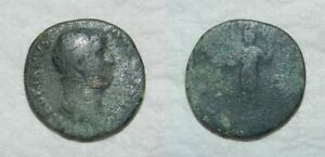 ANCIENT ROME :  HADRIAN BRONZE AS