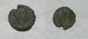 ANCIENT ROME :  BRONZE COIN 4TH CENTURY A.D.  27