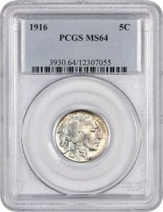 1916 5C PCGS MS64   BUFFALO NICKEL