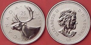 SPECIMEN 2011 CANADA 25 CENTS FROM MINT'S SET