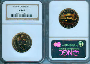 1998W CANADA $1 LOON   NGC MS 67