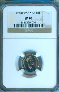Click now to see the BUY IT NOW Price! 2001P CANADA TEN CENTS NGC SP 70  PERFECT COIN      NEW LOW PRICE
