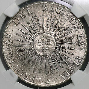Click now to see the BUY IT NOW Price! 1815 NGC AU  PROVICIAS ERROR ARGENTINA SUNFACE 8 REALES COIN  18091706CZ