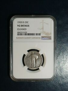 1920 D STANDING LIBERTY QUARTER NGC VG SILVER 25C COIN PRICED TO SELL