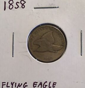 1858  FLYING EAGLE  SMALL LETTERS