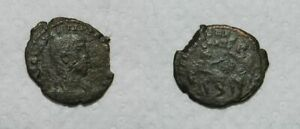 ANCIENT ROME : BRONZE COIN  4TH CENTURY A.D.  51