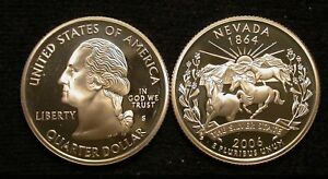 2006 S  SILVER  NEVADA QUARTER IN  PROOF        FREE SHIP