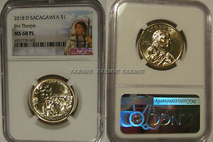 Click now to see the BUY IT NOW Price! 2018 D NATIVE SACAGAWEA DOLLAR JIM THORPE $1 NGC MS 68 PL PROOFLIKE