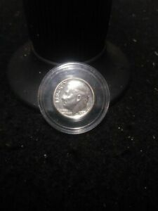 1957D SILVER ROOSEVELT DIME GEM BU  IN DIRECT FIT.