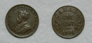 CANADA : ONE CENT 1936   VF
