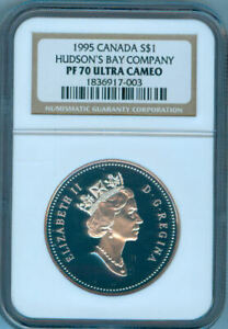 1995 CANADA $1 HUDSON'S BAY COMPANY  NGC PF 70 UC   NEW LOW PRICE