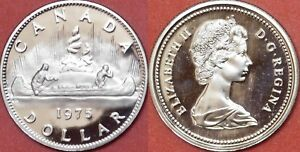 PROOF LIKE 1975 CANADA ATTACHED JEWELS 1 DOLLAR FROM MINT'S SET
