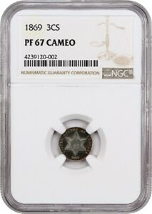Click now to see the BUY IT NOW Price! 1869 3CS NGC PR 67 CAM   WOW  GORGEOUS    3 CENT SILVER   WOW  GORGEOUS