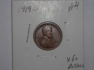 WHEAT PENNY 1919S LINCOLN CENT 1919 S NICE HIGH GRADE XF DETAILS  LOT 4