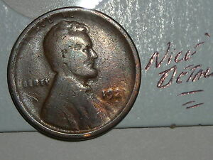 WHEAT PENNY 1921S NICE DETAILS LINCOLN CENT 1921 S NICE SEMI KEY DATE