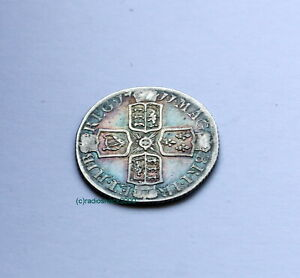 1711 QUEEN ANNE GREAT BRITAIN SILVER SIXPENCE SIX PENCE 6D COIN LOVELY TONING