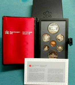 1985 CANADA DOUBLE DOLLAR PROOF SET   MOOSE    ORIGINAL RCM PACKAGING & COA