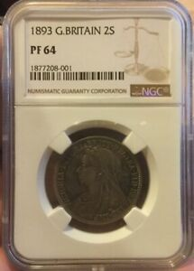 Click now to see the BUY IT NOW Price! 2 SHILLING 1893 FLORIN NGC PF64 GREAT BRITAIN