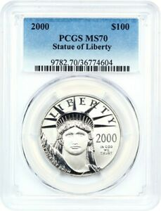 Click now to see the BUY IT NOW Price! 2000 PLATINUM EAGLE $100 PCGS MS70   STATUE LIBERTY 1 OZ