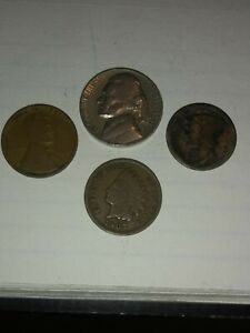STARTER COLLECTION  LOT OF 4 OLD US COINS.