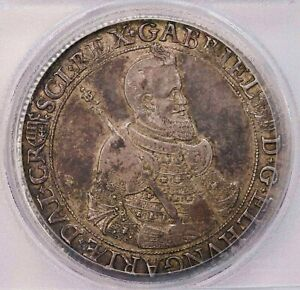 Click now to see the BUY IT NOW Price! PCGS  AU50 1621 KB TRANSYLVANIA THALER SILVER NICE TONING