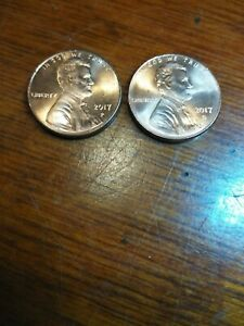 2017 P & D LINCOLN SHIELD CENT / PENNY SET FROM BANK ROLLS