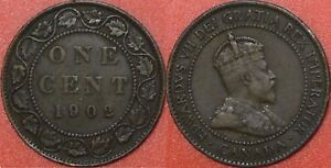 FINE 1902 CANADA LARGE 1 CENT