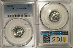 2019 P ROOSEVELT DIME 10C PCGS MS68FB FULL BANDS