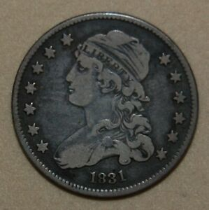 1831 CAPPED BUST SILVER QUARTER